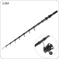 3.0m Carbon Fiber Telescopic Fishing Rods Fasten Guides Ultra Short 10 Section Portable Fishing Pole