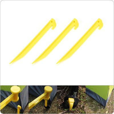 3Pcs Outdoor Travel Camping Tents Stakes Pegs Pins Trip Plastic Heavy Duty Tent Nails Fixing Tent Mat Stake Nails