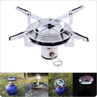 Fold Outdoor Gas Stove Camping Stoves Portable Furnace Hiking Picnic Stainless Steel Gas Stove Furnace for Cooking
