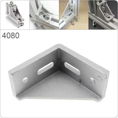 4080 Aluminum Corner 40x80 L Shape Right Angle Support Connector Extrusion Industrial Aluminum Profile