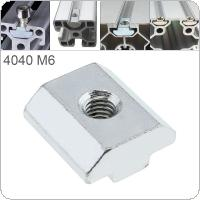 1PCS M6 for 40 Series Slot T Nut Sliding T Nut Hammer Drop In Nut Fasten Connector 4040 Aluminum Extrusions