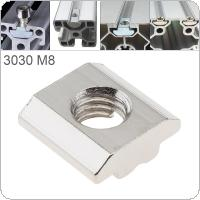 1PCS M8 for 30 Series Slot T Nut Sliding T Nut Hammer Drop In Nut Fasten Connector 3030 Aluminum Extrusions