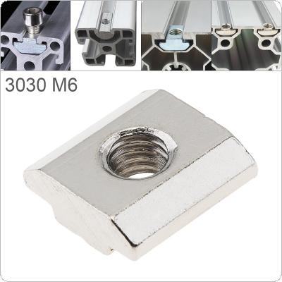 1PCS M6 for 30 Series Slot T Nut Sliding T Nut Hammer Drop In Nut Fasten Connector 3030 Aluminum Extrusions