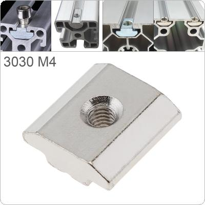 1PCS M4 for 30 Series Slot T Nut Sliding T Nut Hammer Drop In Nut Fasten Connector 3030 Aluminum Extrusions