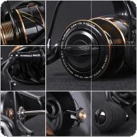 Aluminum Alloy Spinning Reel 5.5KG / 12LB Max Drag Power 1000 Series Fishing Wheel for Bass Pike Fishing