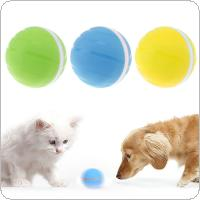 DC 5V Rubber 360° Auto Rolling Waterproof Durable Smart Interactive Kid Toy Pet Balls with Flashing RGB LED Light and USB Rechargeable for Cats and Dogs