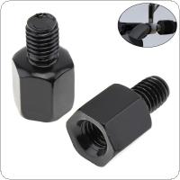 1 Piece Clockwise 8mm to 8mm Motorcycle Rearview Mirror Screw Thread Adapter Conversion Bolt Motorbike Mirror Screw