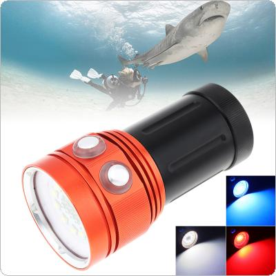 120W 8000LM Bright LED Professional Diving Flashlight Support Underwater 100m Waterproof IP68 Powerfull Flashlight for Diving / Photography Video Fill Light
