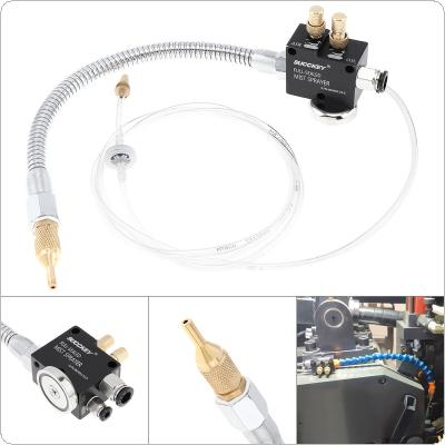 Precision Mist Coolant Lubrication Spray System with Adsorbable Magnetic Base and Stainless Steel Flexible Pipe for Metal Cutting Engraving Cooling Machine