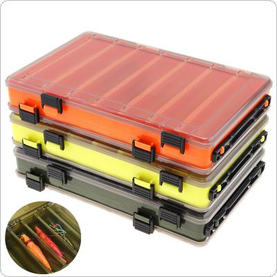 Double Side Thickening 14 Compartments Squid Fishing Lure Box for Shrimp Bait Minnow Lures Storage Case
