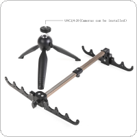 Foldable 4 Groove Ice Fishing Rod Holder Tripod Floor Stand Fishing Pole Bracket
