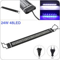 43x5.7CM 24W 48 LED Aquarium Light with Extendable Brackets Fish Tank Light with 2 Lighting Modes Water Fishbowl Lights for Fish tank Size 46-63cm