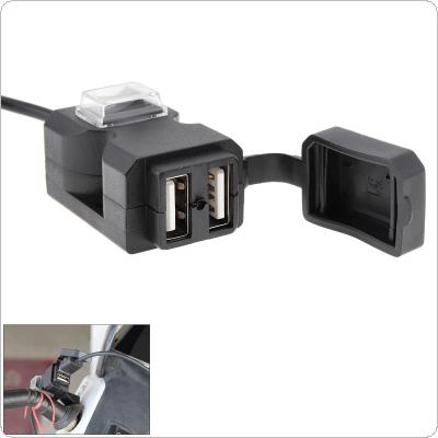 Dual USB Port 12V Waterproof Motorbike Motorcycle Handlebar Charger 5V 1A/2.1A Adapter Power Supply Socket for Phone Mobile