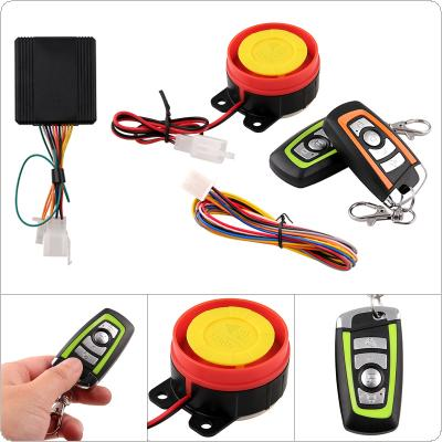 12V 125db Motorcycle Two Way Burglar Alarm Scooter Anti-theft Alarm with  Engine Start Remote Control Key for Motorcycle Anti-theft System