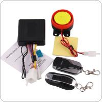 125db Motorcycle Burglar Alarm Scooter Anti-theft Alarm with Two Remote Control Key for Motorcycle Anti-theft System