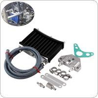 Universal Motorcycle CNC Aluminum Engine Oil Cooler Cooling Radiator Kit For 50cc 110cc 125cc 140cc 150cc ATV PIT PRO Trail Dirt