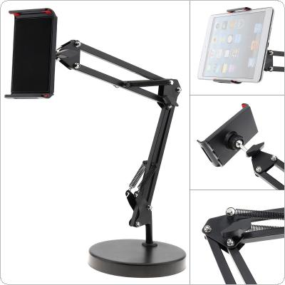 Extendable Tablet Cell Phone Holder with Suspension Boom Scissor Long Arm Mount Stand for Broadcast Studio Video Chatting