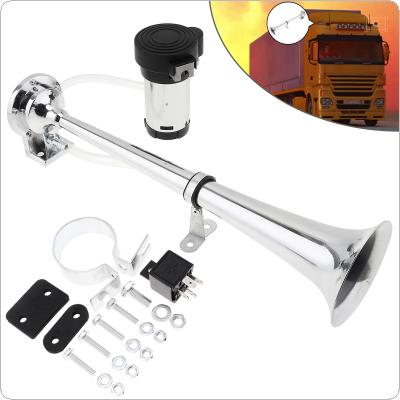 150dB 12V Single Trumpet Musical Air Horn Kit with Dustproof Compressor Super Loud for Truck Lorry Boat Train