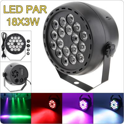 18x3W LED Mini Par Light RGB Stage Light with Music Control / Automatic / DMX 512 for Party / Bar / Family Gathering / KTV DJ Light