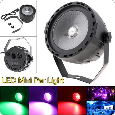 30W Seven Colors Mini LED COB Dyed Small Par Light Stage Lantern with Music Control / Automatic / DMX 512 for Small Party / Bar / Family Gathering / KTV DJ