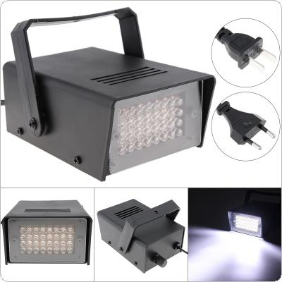 32 LEDs Mini Strobe Light Voice Control Stage Effect Light for Small Party / Bar / Family Gathering / KTV DJ Light