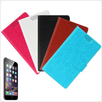 Ultra Slim Flip Folio Wallet Style Leather Case with Built-in Card Holder Slot Fit for iPhone 6 Plus 5.5 Inch Smartphone