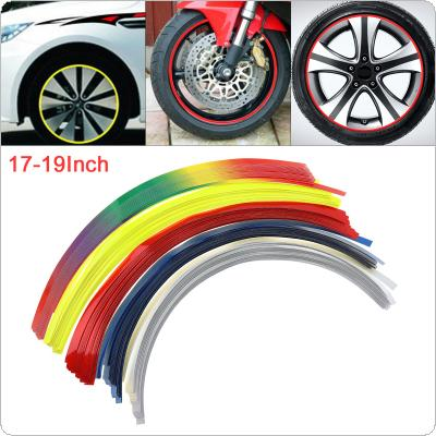 16pcs 5 Colors PVC Car Motorcycle Hub Steel Tire Rim Reflector Refit Sticker for 10 Inch ~17 Inch Tire