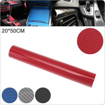 4 Colors 20 x 50cm PVC 6D Carbon Fiber High Bright Automobile Repacking Sticker Fit  for Car / Motorcycle / Electronic Product / Home