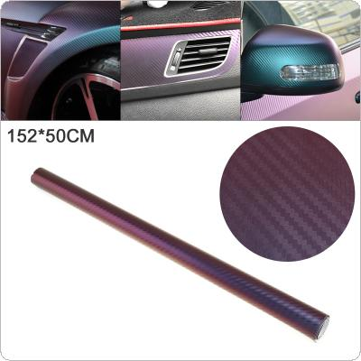 50 X 152cm PVC 3D Carbon Fiber Blue / Purple Discolor Automobile Decoration Modification Sticker Fit for Car / Motorcycle / Electronic Product / Home