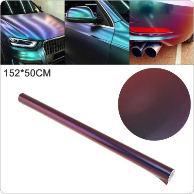50 X 152cm PVC Glossy Side Blue / Purple Discolor Automobile Decoration Modification Sticker Fit for Car / Motorcycle / Electronic Product / Home
