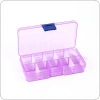 5 Colors 10 Grid Portable PP Removable Multipurpose Organizer Container Storage Box Fit for Household Daily / Cosmetic / Jewelry / Tool Parts