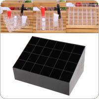 24 Grid Small PP Trapezoid Lipstick Jewelry Makeup Storage Holder Box Cosmetic Display Stand