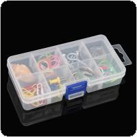 Small 8 Grid PP Removable Multipurpose Transparent Organizer Container Storage Box Fit for Household Daily / Cosmetic / Jewelry / Tool Parts