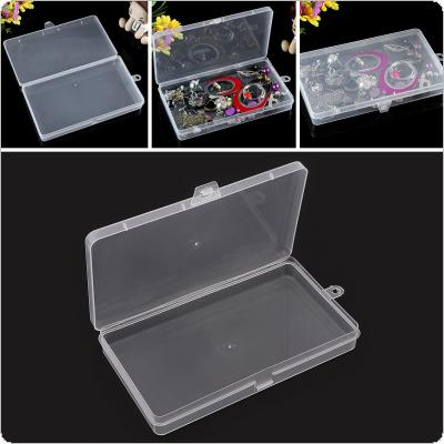 Rectangle Transparent PP Multipurpose Organizer Container Storage Box Fit for Household Daily / Cosmetic / Jewelry / Tool Parts