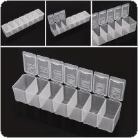 Portable 7 Day Braille Transparent Tablet Pill Capsule Vitamin Organizer Container Storage Box