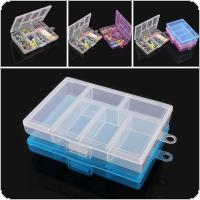 3 Colors 6 Grid PP Fixed Multipurpose Organizer Container Storage Box Fit for Household Daily / Cosmetic / Jewelry / Tool Parts