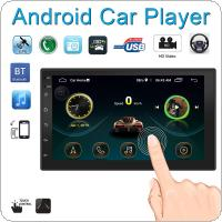 2 DIN 7 Inch QUAD core Android 8.1  HD Capacitive Touch Screen Bluetooth Car Stereo FM Radio MP5 GPS Navi Player Support Mirror Link / Steering Wheel Control