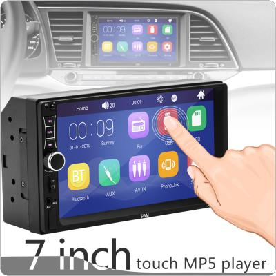 2 DIN 7 Inch HD Capacitive Touch Screen Bluetooth Car Stereo FM Radio MP5 Audio Player Support Mirrorlink / Phone Charging / Steering Wheel Control
