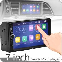 2 DIN 7 Inch HD Capacitive Touch Screen Bluetooth Car Stereo FM Radio MP5 Audio Player Support Mirror Link / Phone Charging / Steering Wheel Control