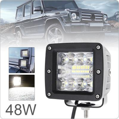 3 Inch 48W Ultra Bright LED Pod Lights Off Road Driving Lights Combo LED Light Bar Fog Light Square LED Work Light  for Jeep ATV UTV SUV Truck Boat