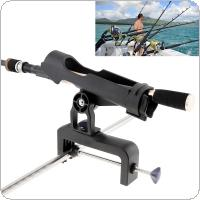 Fishing Support Rod Stand Bracket Yacht Fishing Tackle Tool 360 Degrees Rotatable Rod Holder for Handrail / Boat / Canoe and Kayak