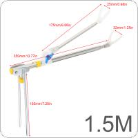 1.5m Luminous Fishing Rod Ground Inserted Stand Bracket Metal Stretch Pole Fishing Box Chair Holder