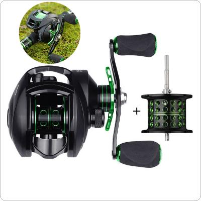 Baitcasting Reel 8.1:1 12+1BB Bass Fishing Reel with Shallow Spool 8KG / 18LB Max Drag Left Right Hand Reel Reinforced Nylon Body