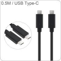 DiGiYes 0.5M/1.64Ft USB TypeC to USB TypeC Charge 3.0 Cable 60W PD Fast Charging Cable Fit for Samsung S9 / S8 / Note 9 / 8