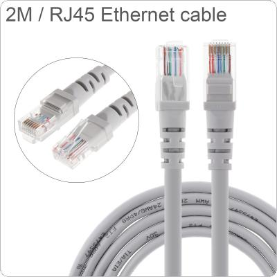DiGiYes 2M/6.56Ft CAT6 Pure Copper Ethernet Cable High Speed 8P8C Round Wire RJ45 Network LAN Cable for Computer Router / Modem / Interchanger