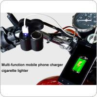 Motorcycle USB Socket Charger Electromobile Multi-function Cigarette Lighter Waterproof Speed Charge with Switch