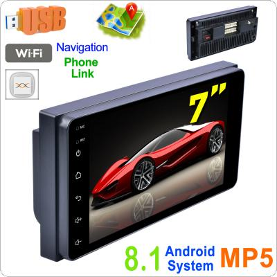 2 DIN 7 Inch QUAD-core Android  8.1 HD Capacitive  Touch Screen Bluetooth Car MP5 GPS Player CarLife Support AM /  FM / Mirrorlink Fit for TOYOTA