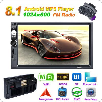 2 DIN 7 Inch QUAD-core Android 8.1 Bluetooth HD Touch Screen Car MP5 GPS Player Support FM / USB / SD / WIFI / Mirrorlink