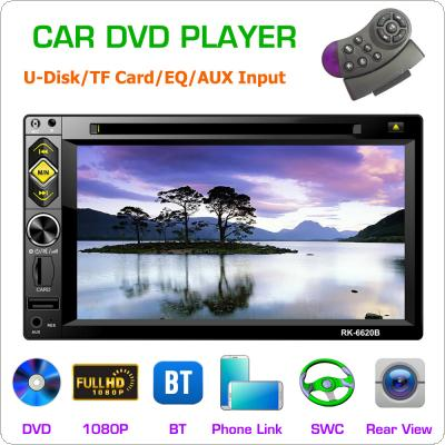 2 DIN 6.2 Inch Bluetooth HD Digital Screen Touch Screen Car DVD Player Andriod  Support Mirrorlink / Wireless Remote Control