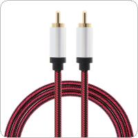 DiGiYes 1M HiFi 5.1 SPDIF RCA to RCA Male to Male Coaxial Cable Stereo Audio Cable Nylon RCA Video Cable for TV Amplifier / Home Theater DVD